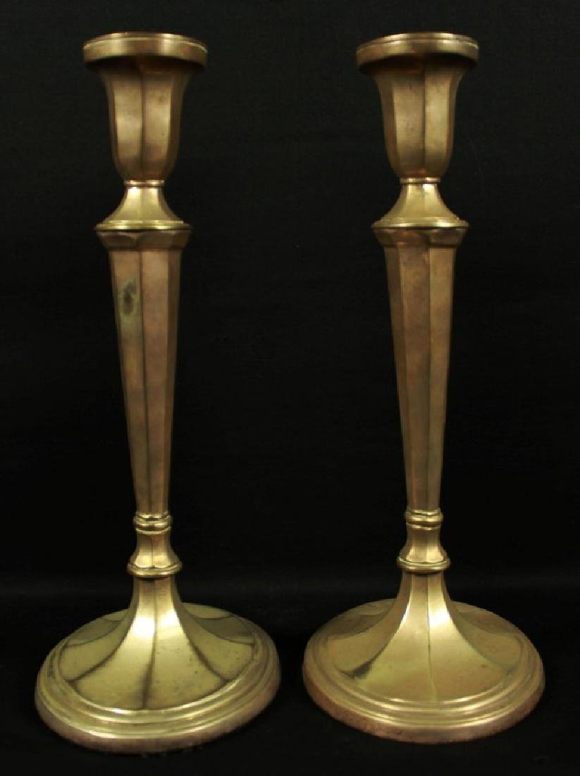 Pair Of Bronze Candlesticks - 2