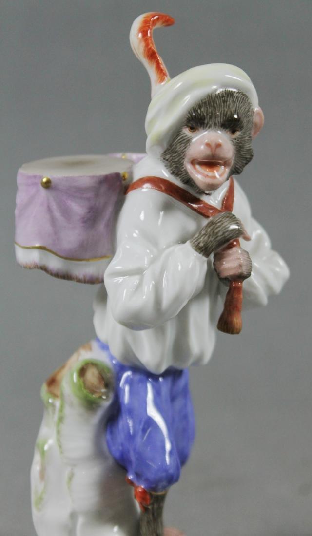 19Th C. Meissen Monkey Band Figure Of Drummer - 2