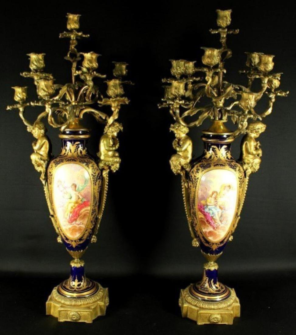 Pair Of Sevres Candelabras