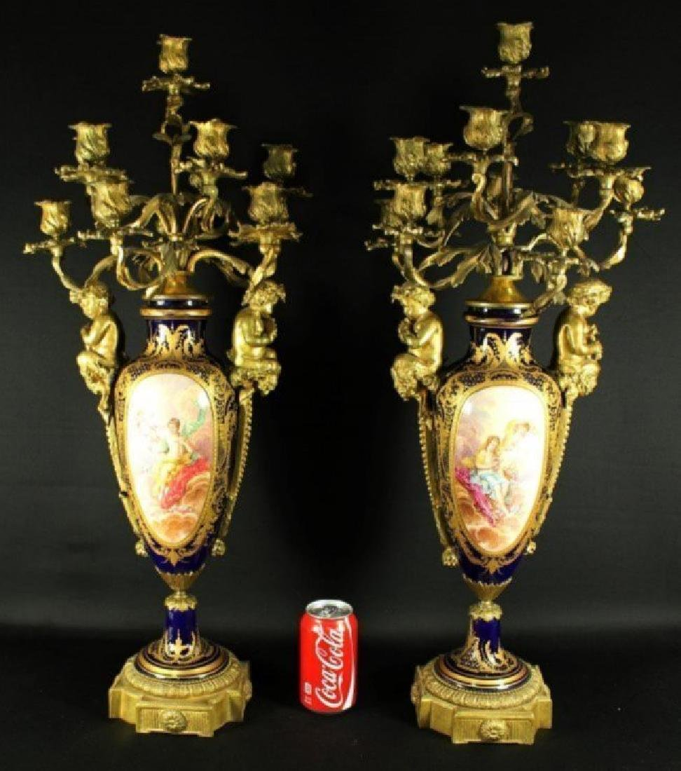 Pair Of Sevres Candelabras - 2