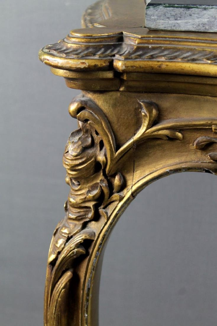 French Style Gilt Marble Top Console - 3