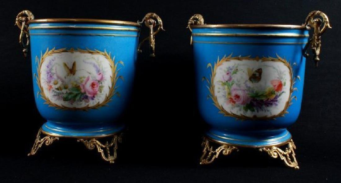 19Th C Sevres Style Pair Of Jardiniere - 2