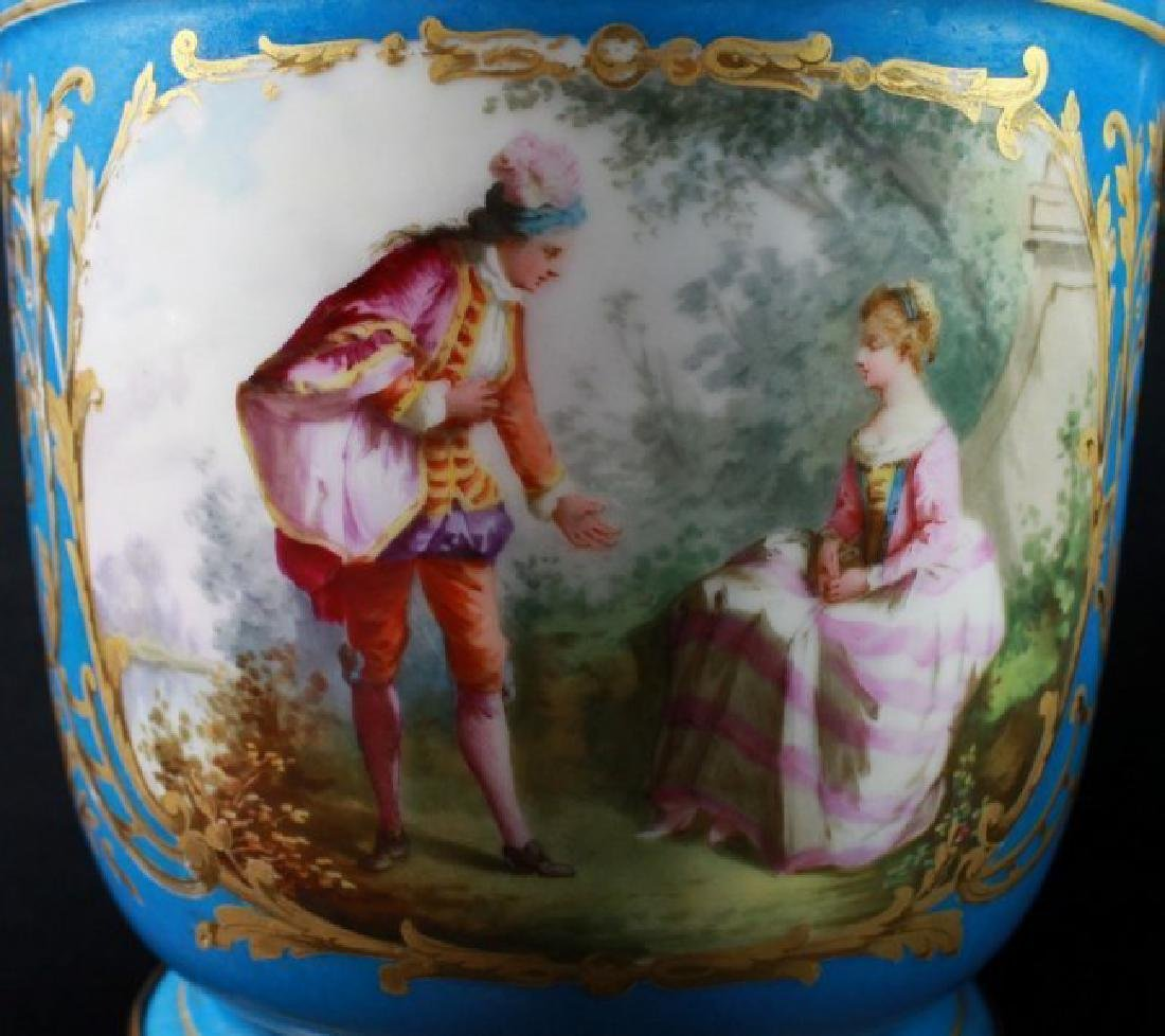 19Th C Sevres Style Pair Of Jardiniere - 4