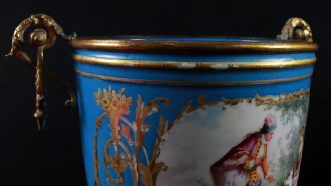 19Th C Sevres Style Pair Of Jardiniere - 5