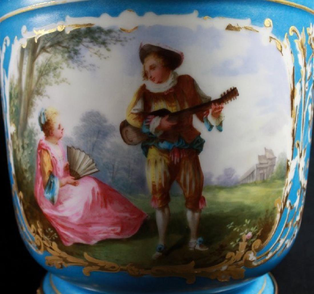 19Th C Sevres Style Pair Of Jardiniere - 7