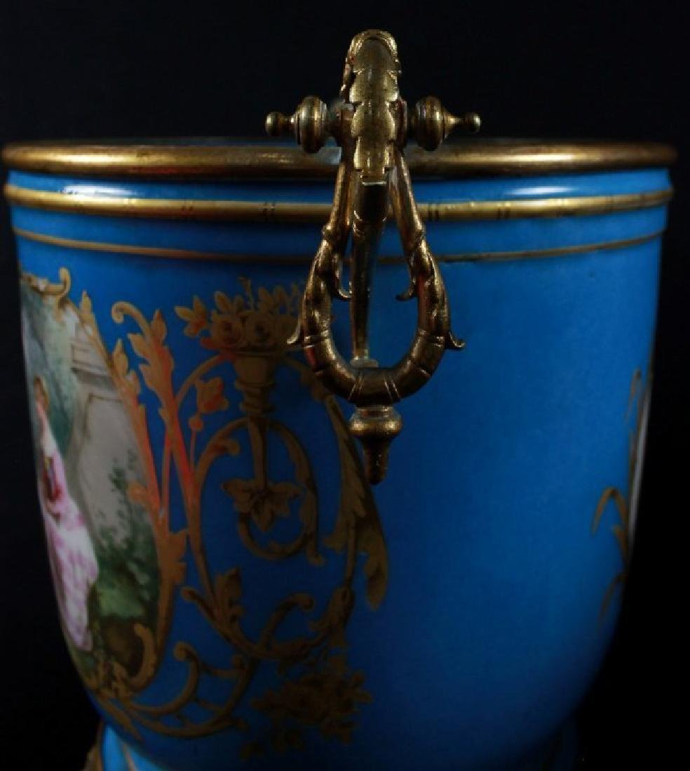 19Th C Sevres Style Pair Of Jardiniere - 9