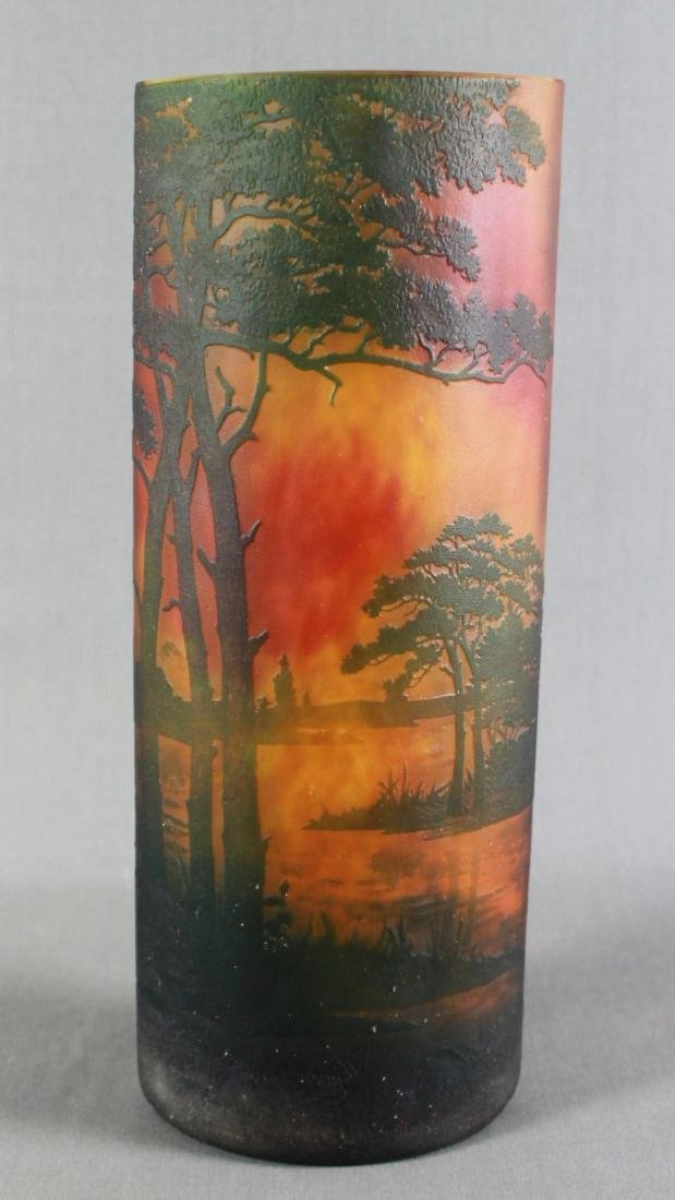 Large Daum Nancy Art Glass Tree Vase - 3
