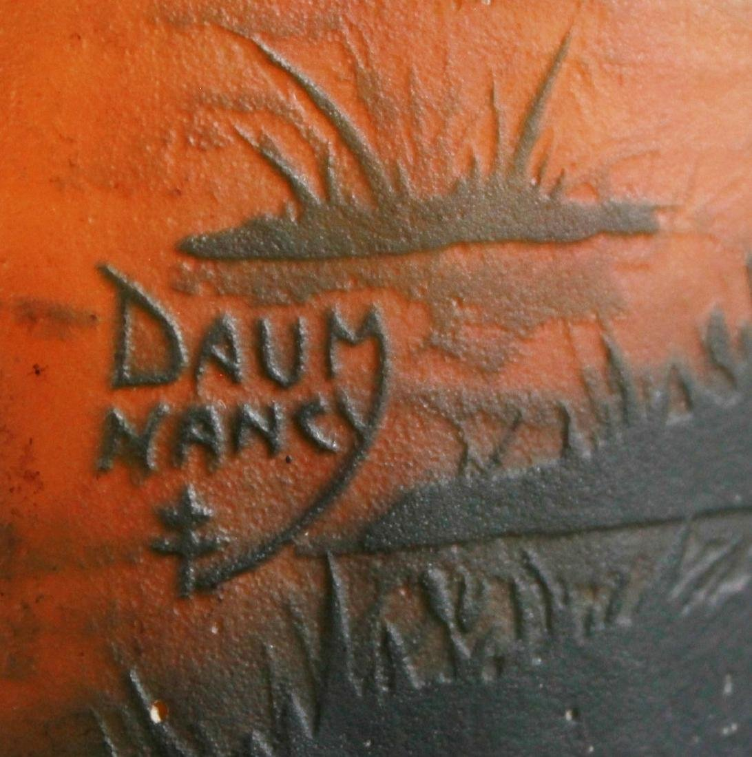 Large Daum Nancy Art Glass Tree Vase - 4