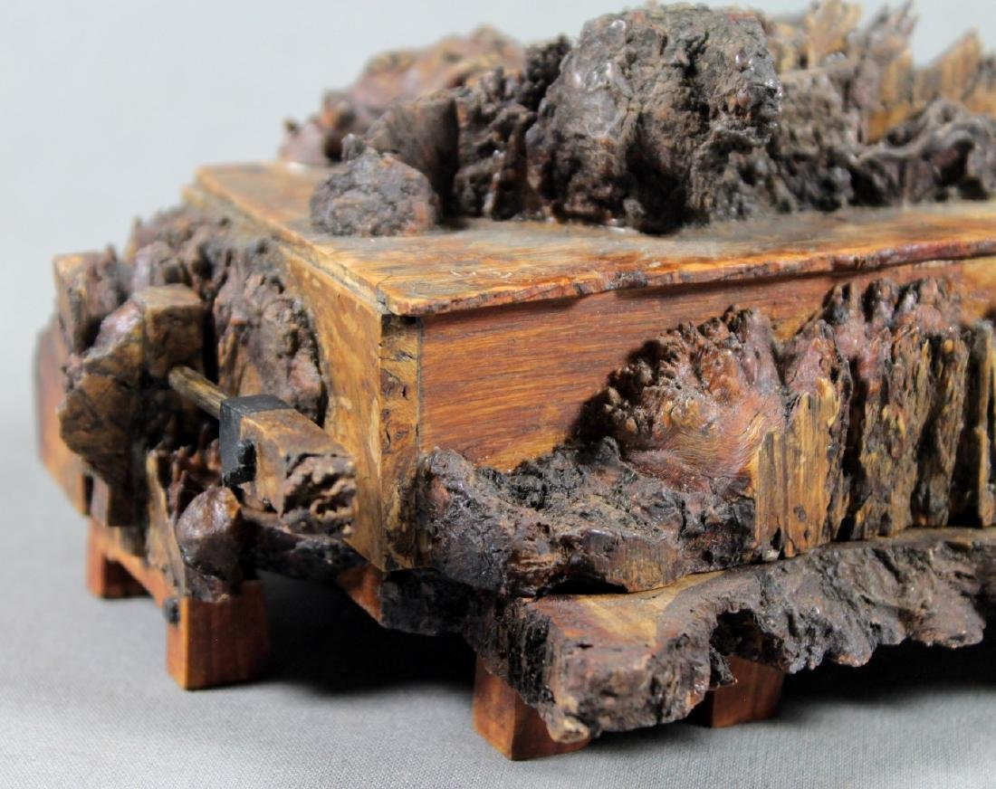 Antique Carved Wooden Box - 2