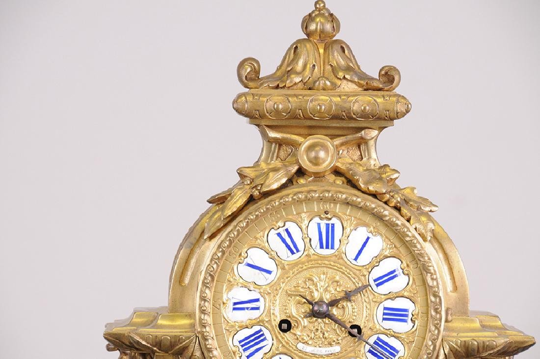 French Bronze Mantle Clock - 5