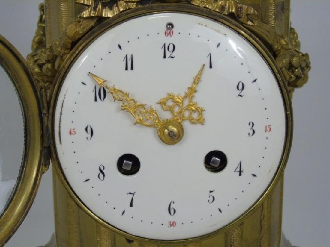 19Th C. French Bronze & Marble Thieble Mantle Clock - 5