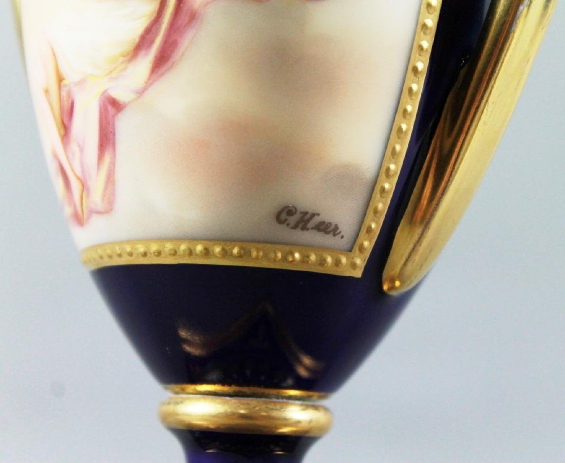 Pair Of Royal Vienna Porcelain Covered Urns - 3