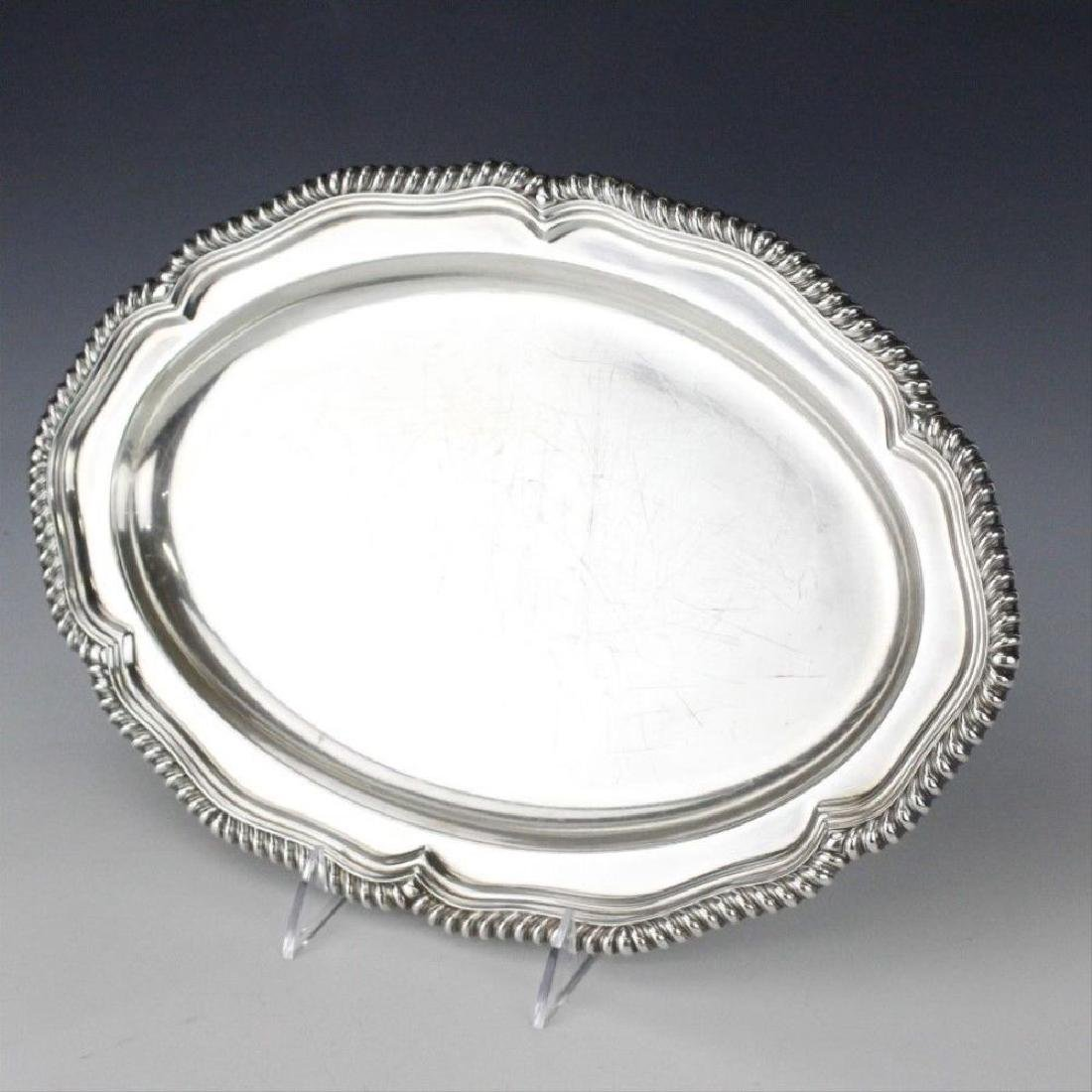 """Signed Tiffany & Co Silver Soldered 14"""" Oval Gadroon"""