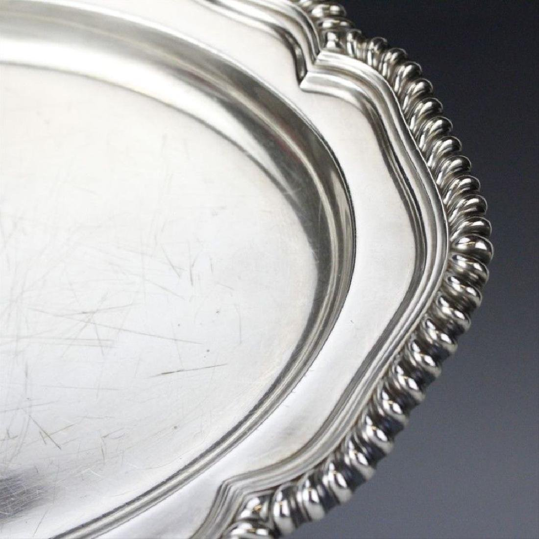 """Signed Tiffany & Co Silver Soldered 14"""" Oval Gadroon - 3"""