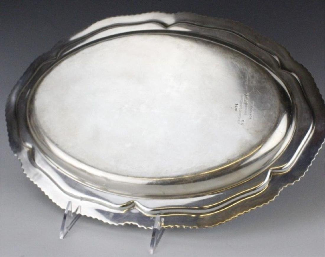 """Signed Tiffany & Co Silver Soldered 14"""" Oval Gadroon - 5"""