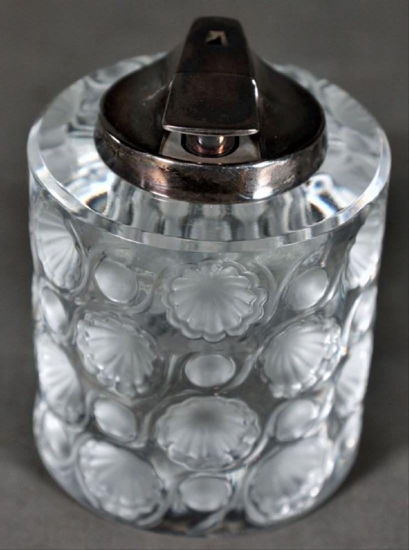 Lalique Clear And Frosted Glass Lighter - 2