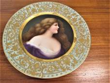 Royal Vienna Portrait Plate Signed Doloira Or Deloira