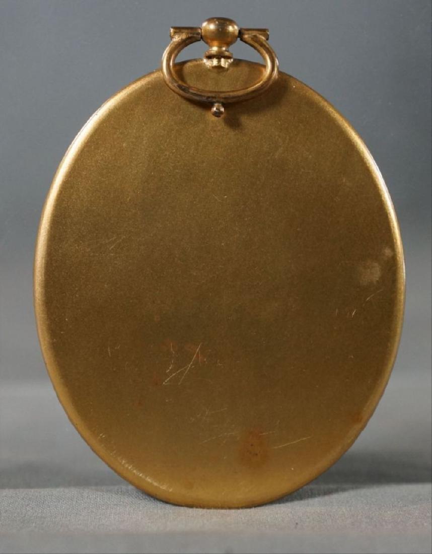 Oval Locket Portrait On Composite Or Bone - 2