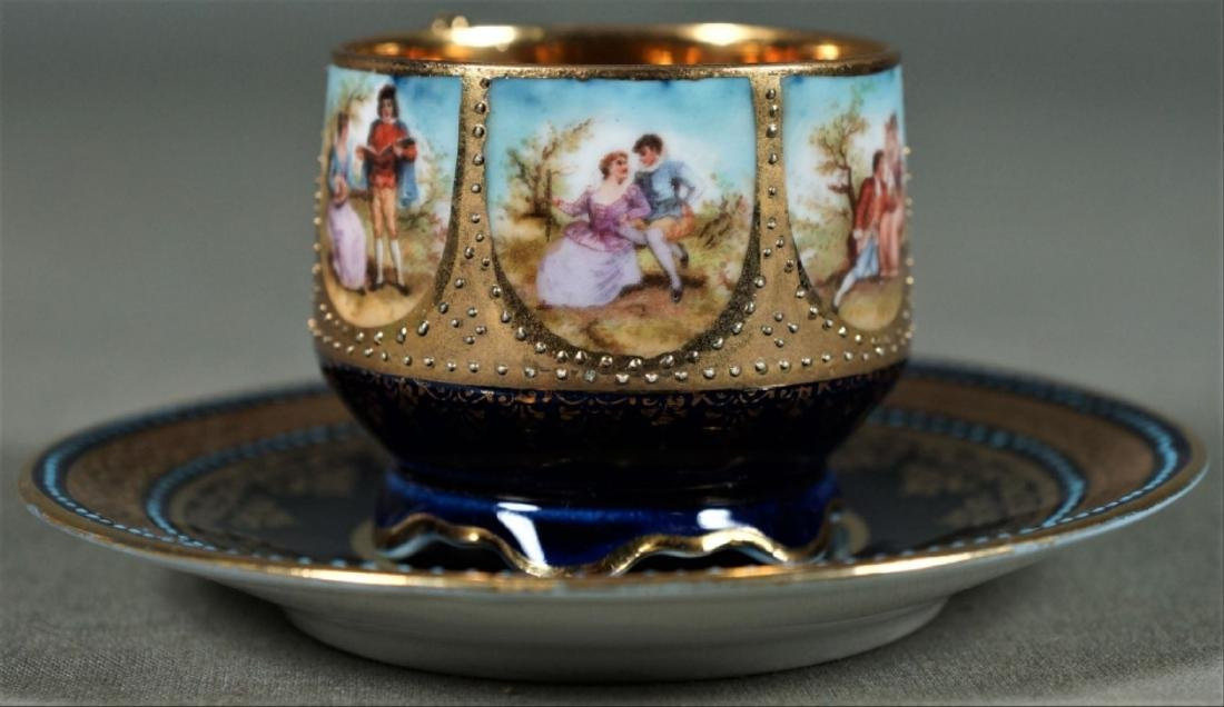 Royal Vienna Cup And Saucer Demitasse - 2