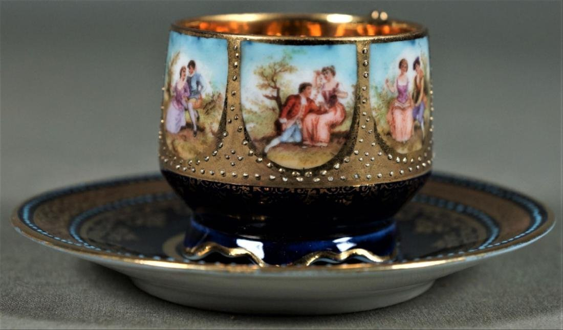 Royal Vienna Cup And Saucer Demitasse - 3