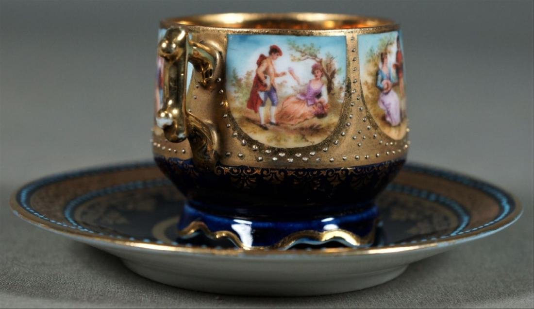 Royal Vienna Cup And Saucer Demitasse - 4