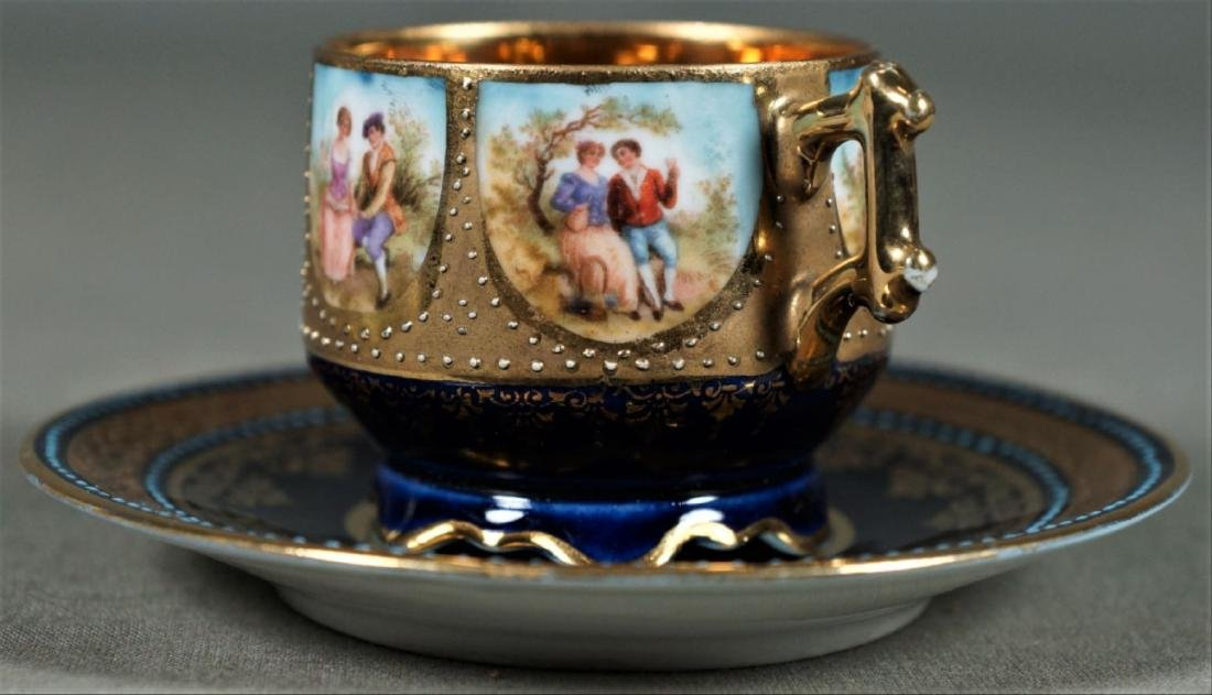 Royal Vienna Cup And Saucer Demitasse - 5