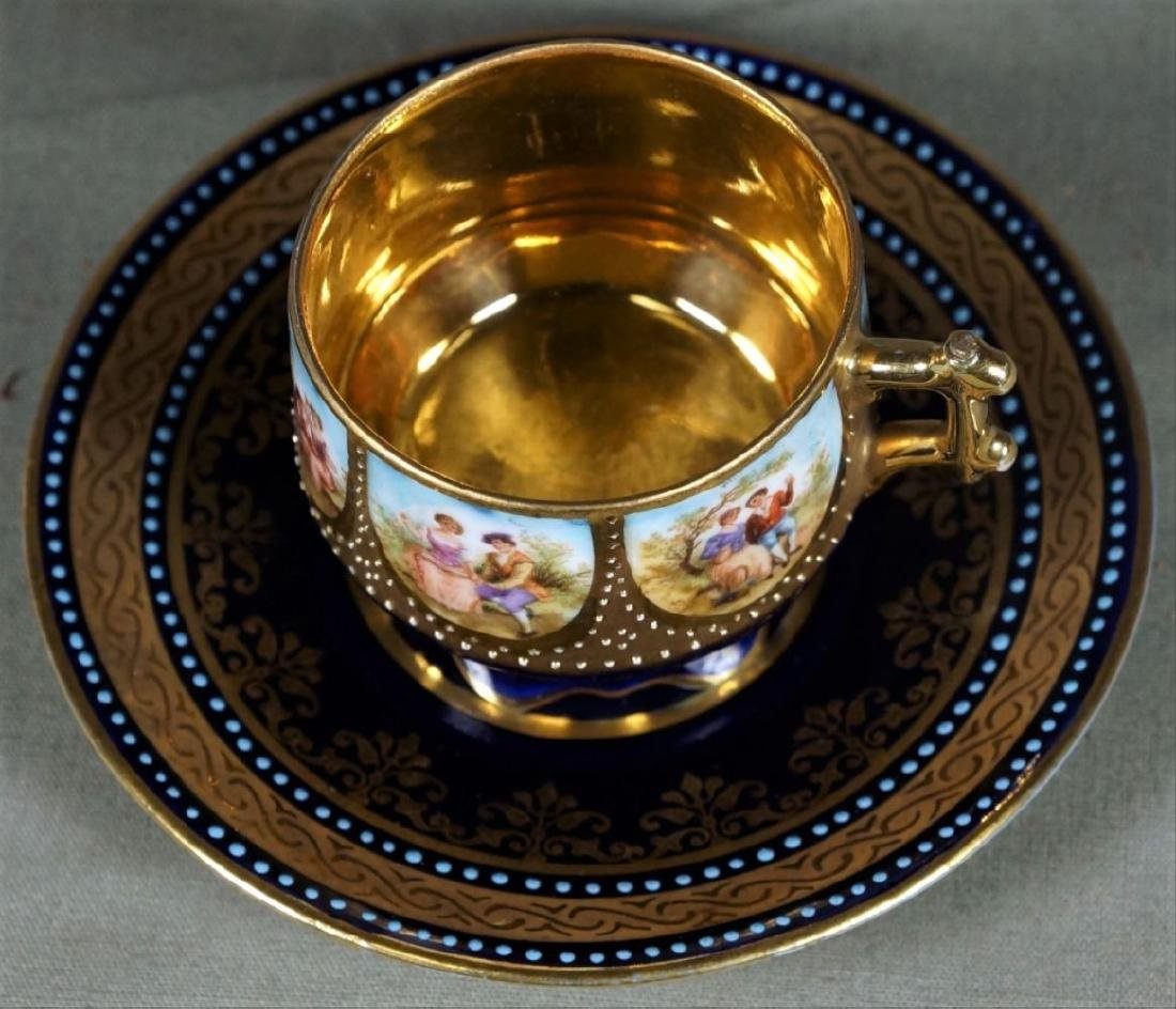 Royal Vienna Cup And Saucer Demitasse - 6