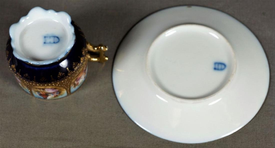Royal Vienna Cup And Saucer Demitasse - 8