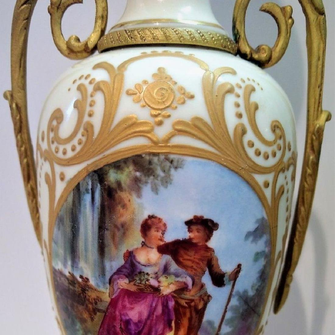 Pair Of Hand Signed Painted French Sevres Porcelain - 3