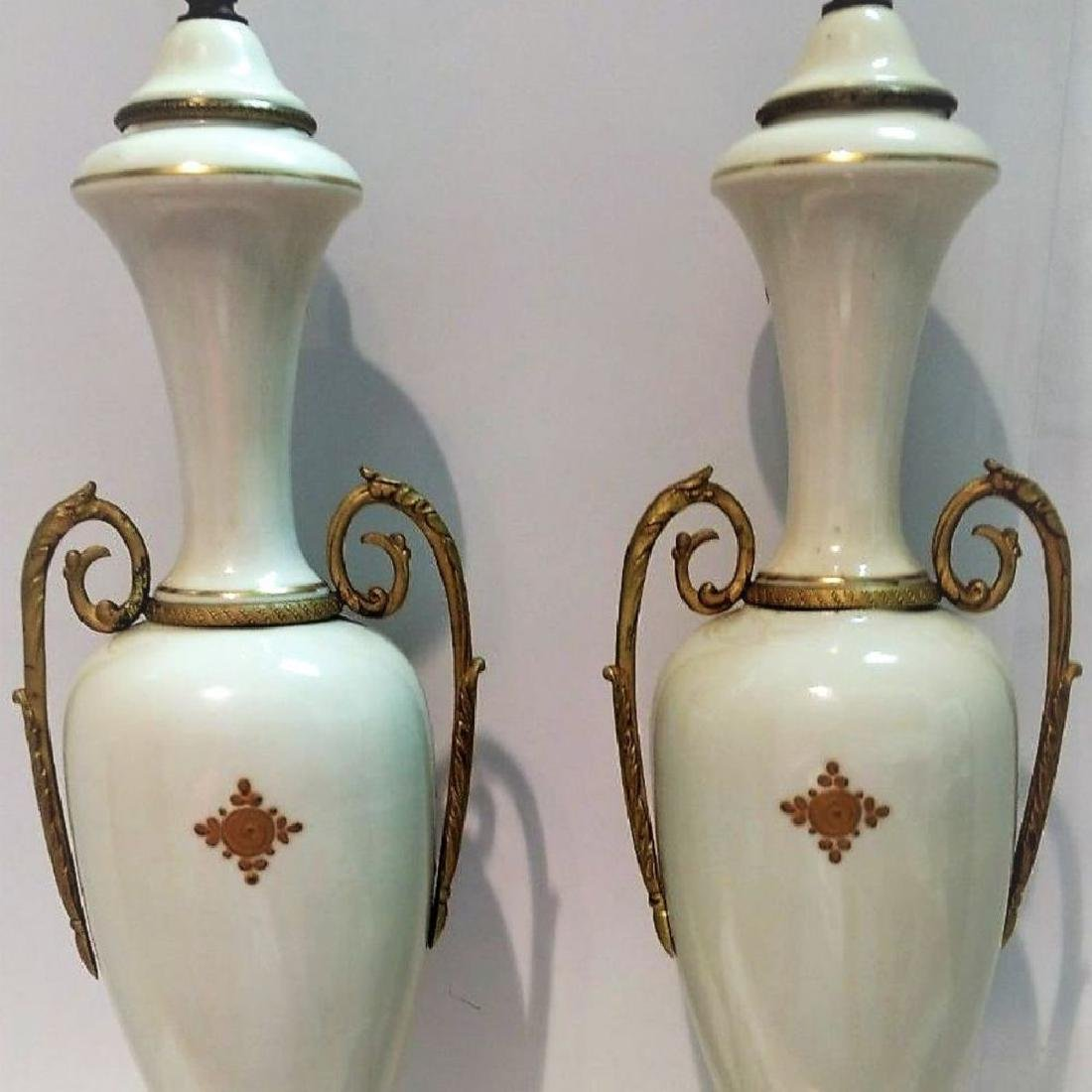 Pair Of Hand Signed Painted French Sevres Porcelain - 8