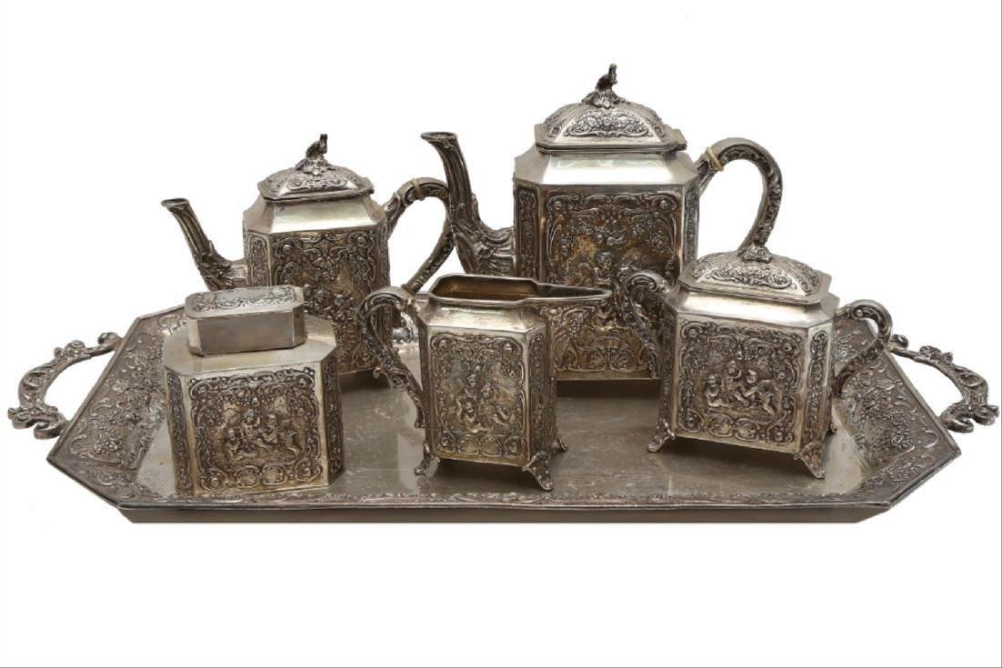 Large German Silver Coffee/Tea Set