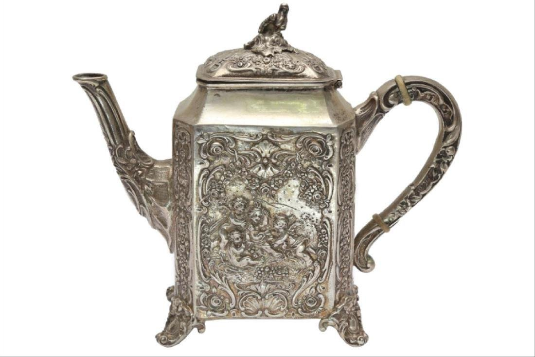 Large German Silver Coffee/Tea Set - 2