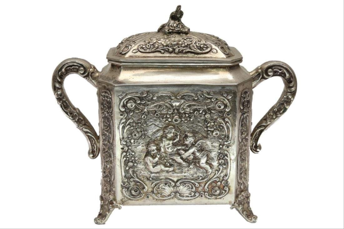 Large German Silver Coffee/Tea Set - 4