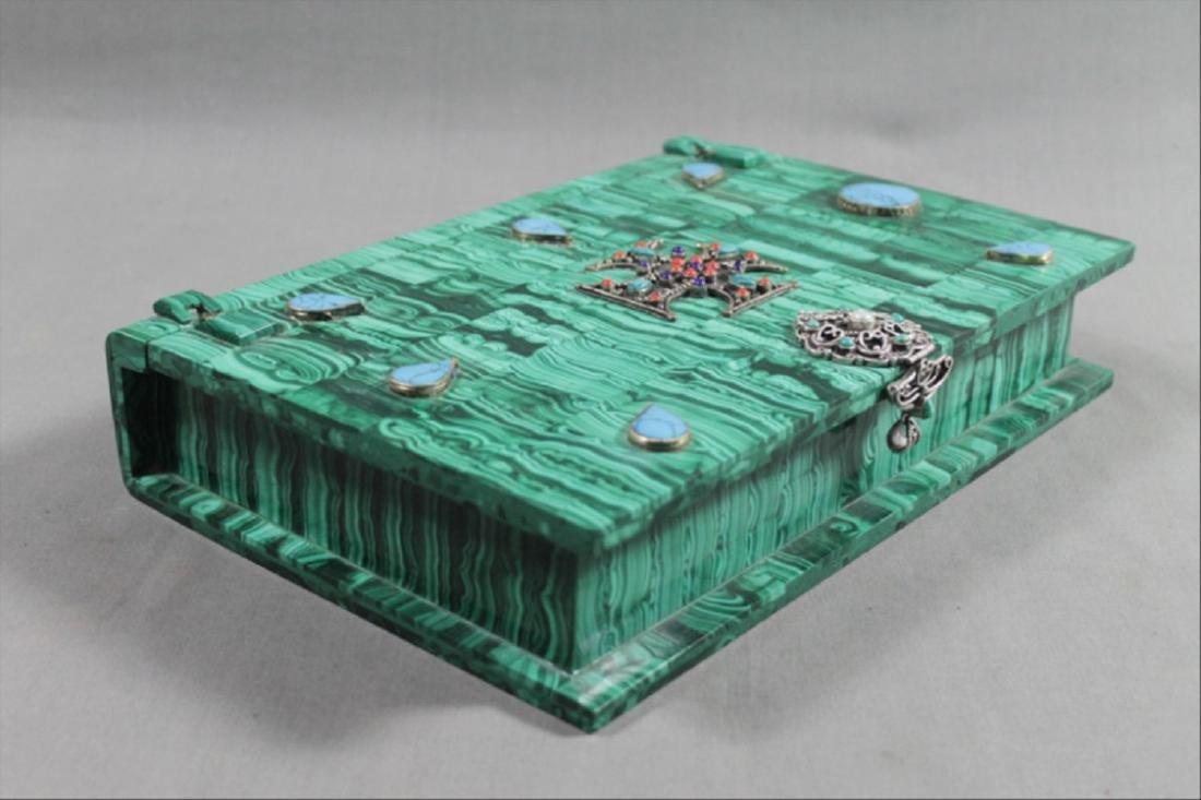 Russian Malachite Jeweled Box