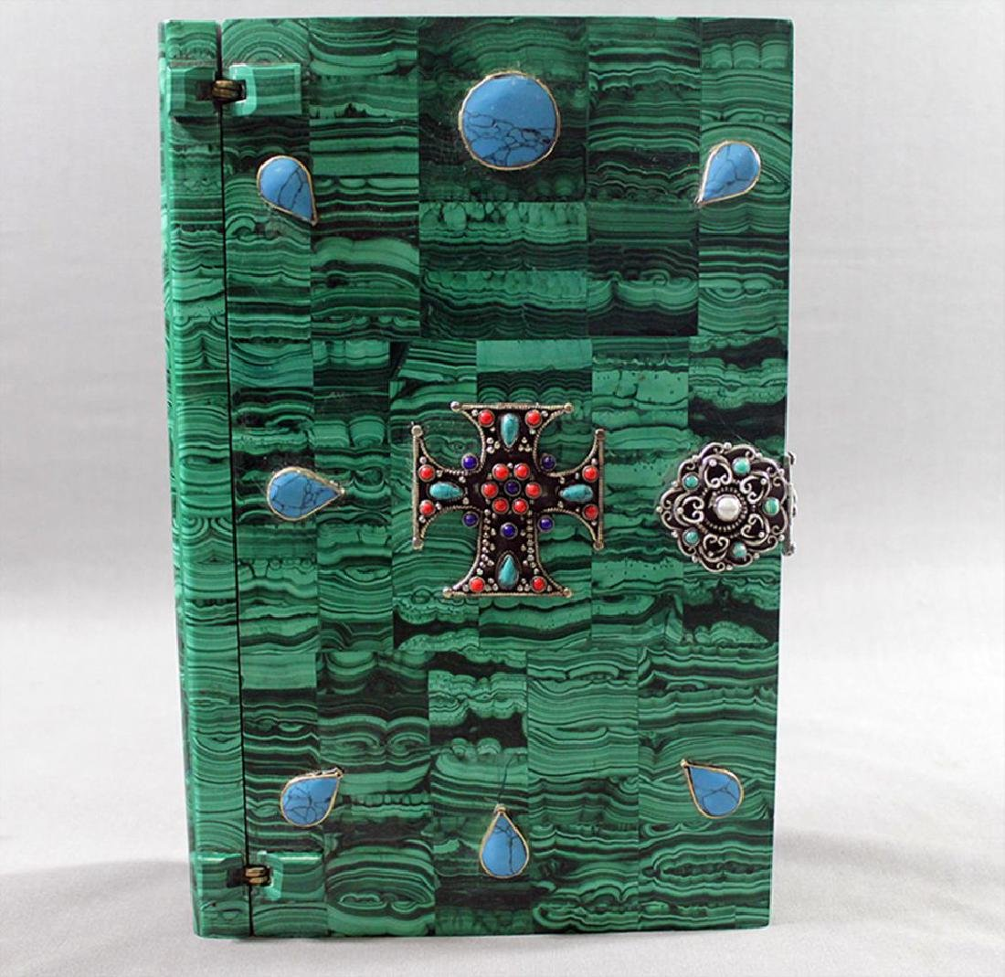 Russian Malachite Jeweled Box - 5
