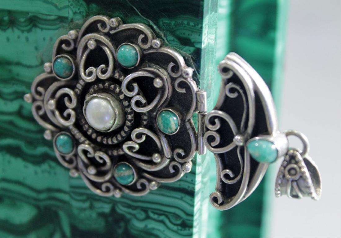 Russian Malachite Jeweled Box - 6