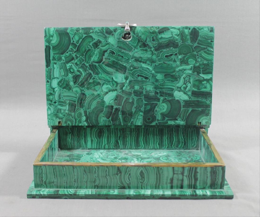 Russian Malachite Jeweled Box - 7