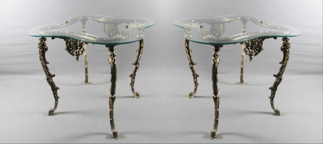 Gilt Metal Lamp Table