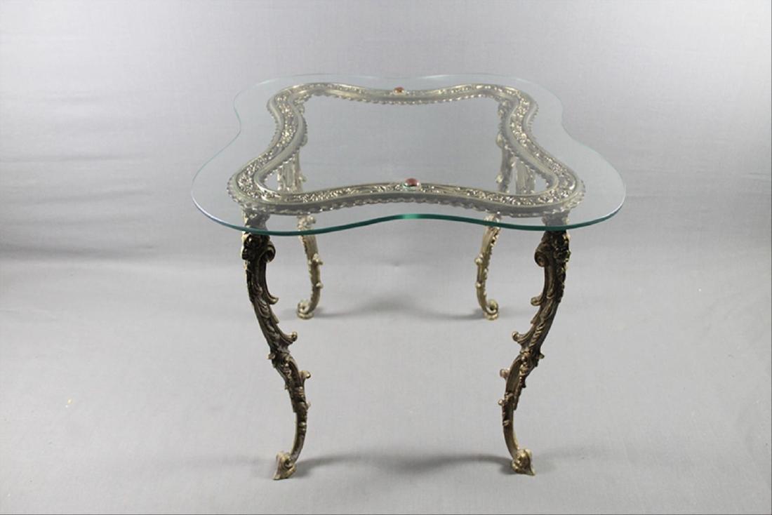 Gilt Metal Lamp Table - 3