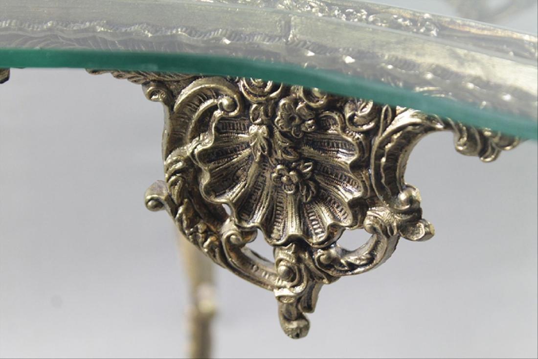 Gilt Metal Lamp Table - 4