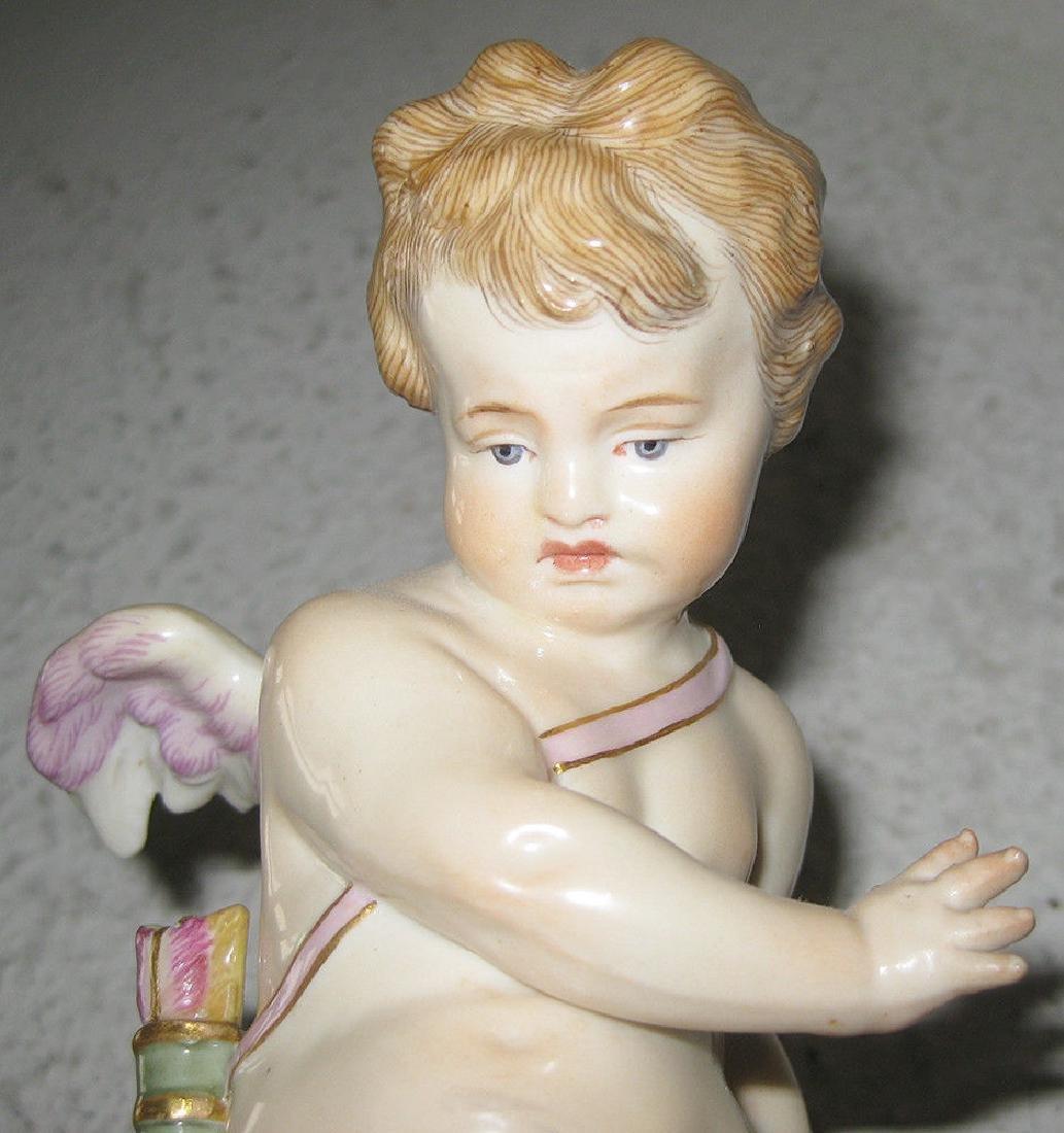 Antique Meissen Figurine - Cupid Caught In A Trap - 2