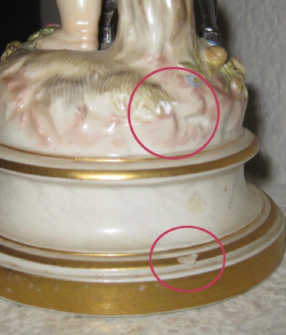 Antique Meissen Figurine - Cupid Caught In A Trap - 7