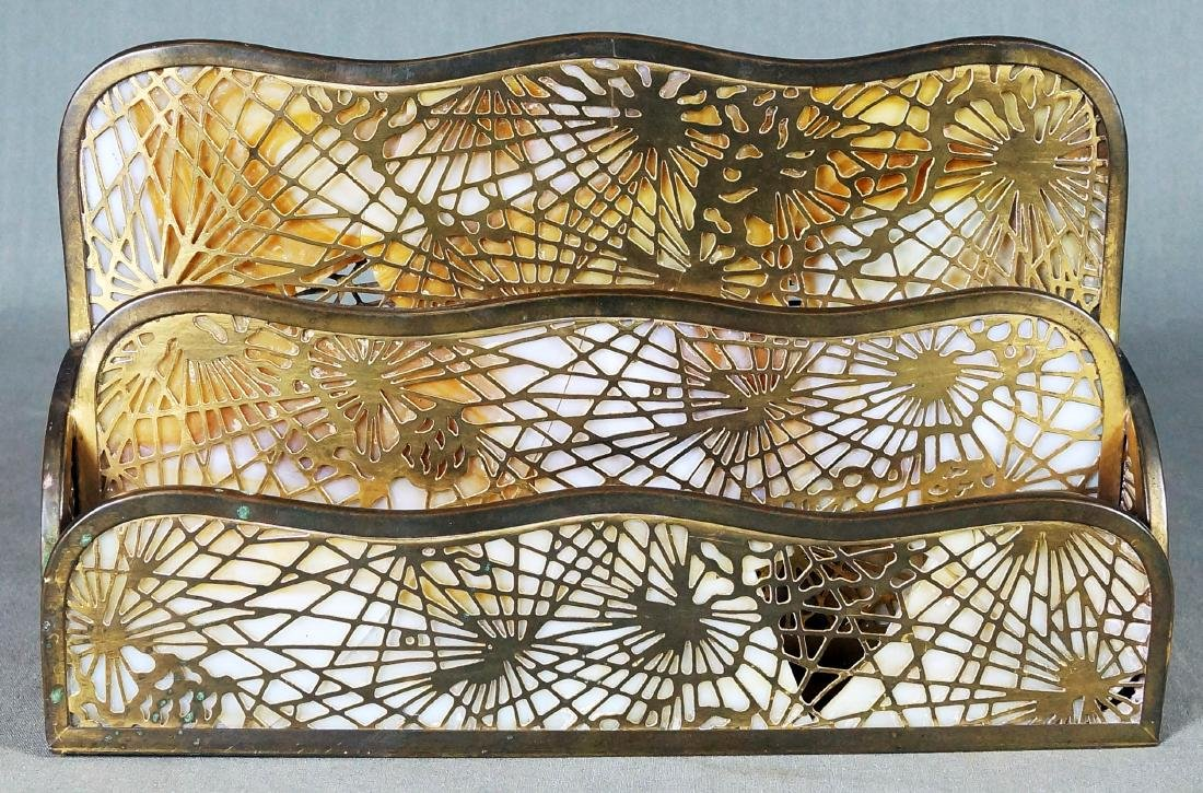 TIFFANY STUDIOS LETTER HOLDER (AS IS)