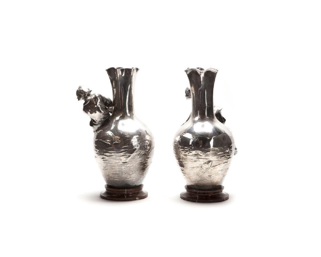 Pair Of Auguste Moreau (1834-1917) French Silver Plated - 2
