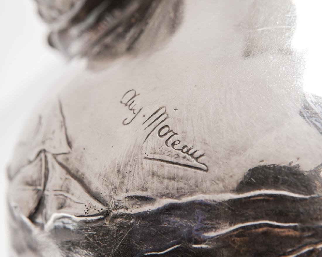 Pair Of Auguste Moreau (1834-1917) French Silver Plated - 4