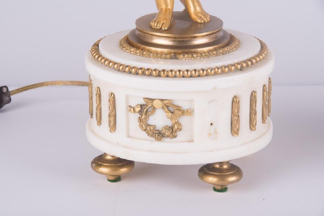 Pair Ormolu Gilt-Bronze And Marble Figural Candelabras - 7