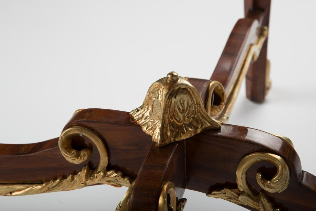 19Th C. Louis Xv Style Round Gilt-Metal Mounted Table - 7