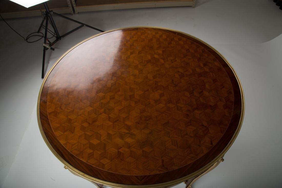 19Th C. Louis Xv Style Round Gilt-Metal Mounted Table - 9