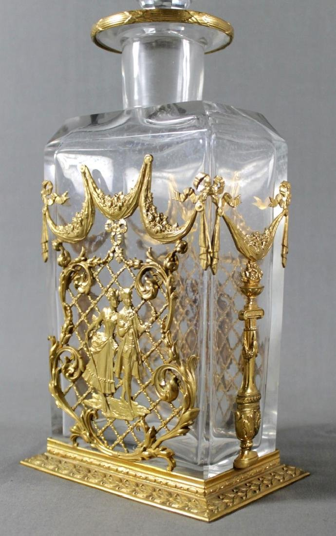 Pair Of Baccarat French Crystal And Dore Bronze Mounted - 3