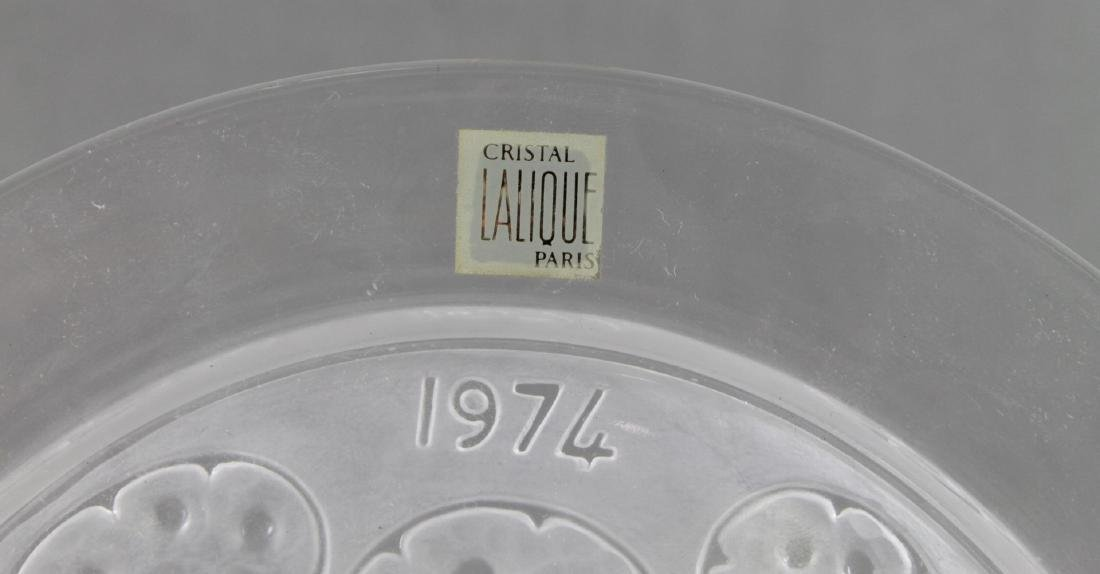 Lalique Anniversary Plate - 3